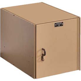 Hallowell HSC1282-1A-TE AquaMax Plastic Locker, Space Cube, 12x18x12, Taupe Body & Doors