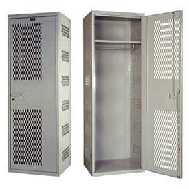 Hallowell HTA822-1AS-PL SecurityMax High Security Ventilated Welded Locker - 18x22x72