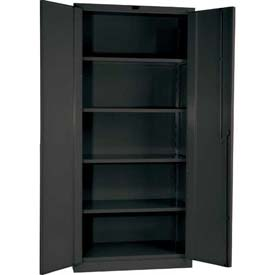 "Hallowell HWG6SC0478-4CL 16 Gauge Heavy-Duty Galvanite DuraTough Storage Cabinet, 60""W x 24""D x 78""H"