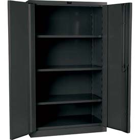 "Hallowell HWG6SC8460-3CL 16 Gauge Heavy-Duty Galvanite DuraTough Storage Cabinet, 48""W x 24""D x 60""H"