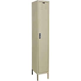 Hallowell UEL1288-1A-PT Assembled Electronic Access Locker Single Tier 1 Wide - 12x18x78