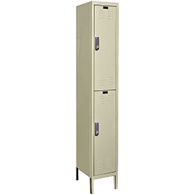 Hallowell UEL1288-2A-PT Assembled Electronic Access Locker Double Tier 1 Wide - 12x18x39