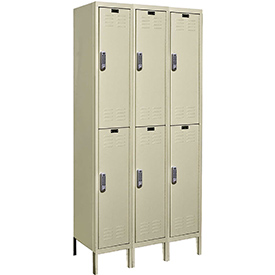 Hallowell UEL3228-2PT Knock-Down Electronic Access Locker Double Tier 3 Wide - 12x12x39