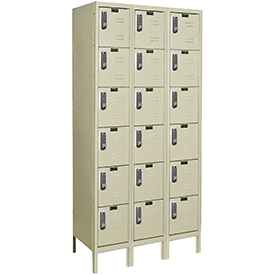 Hallowell UEL3228-6A-PT Assembled Electronic Access Locker Six Tier 3 Wide - 12x12x13