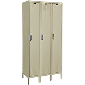 Hallowell UEL3258-1A-PT Assembled Electronic Access Locker Single Tier 3 Wide - 12x15x78