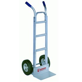 "Hamilton® Aluminum Hand Truck with 10"" Pneumatic Wheels and Double Handles"