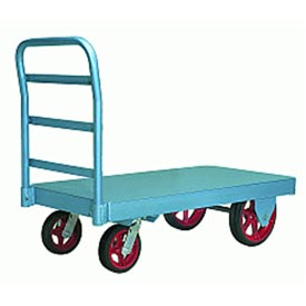 Hamilton® Steel Platform Truck 24 x 48 Mold-on Rubber Wheels 2500 Lb. Cap.