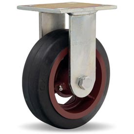 Hamilton® Standard Cold Forged Rigid 6 x 2 Mold-On Rubber Roller 410 Lb. Caster