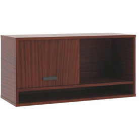 "basyx® by HON® Manage Overhead Storage 36""W Chestnut Finish"