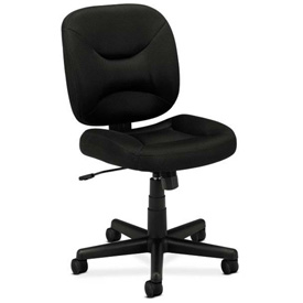 basyx® by HON® Armless Task Chair - Fabric - Low Back - Black