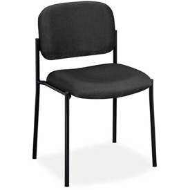 basyx® by HON® Stacking Armless Guest Chair - Fabric - Charcoal