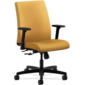 HON® Task Chair with Arms - Fabric - Low Back - Mustard - Ignition Series