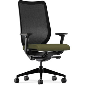 HON® Mesh Task Chair - Fabric - Olivine Seat, Black Back - Nucleus Series
