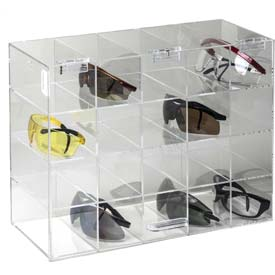 """Horizon Mfg. Safety Glass Holder With Door, 5203, Holds 20 Glasses, 6-3/4""""L"""