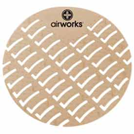 AirWorks® Urinal Screen, Cinnamon, 10/Case, AWUS006-G
