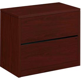 "HON® Lateral File Two-Drawer 36""W x 20""D x 29-1/2""H Mahogany - 10500 Series"