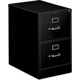 "HON® - 310 Series 2 Drawer Vertical File 26-1/2""D Legal Black"