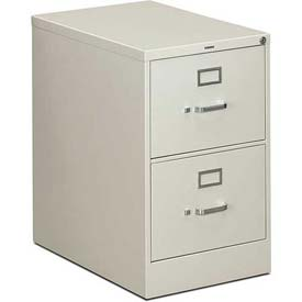 "HON® - 310 Series 2 Drawer Vertical File 26-1/2""D Legal Light Gray"