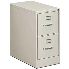 "HON® - 310 Series 2 Drawer Vertical File 26-1/2""D Letter Light Gray"