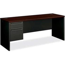 """HON Credenza for 38000 Series Single Left Pedestal 72""""W x 24""""D x 29-1/2""""H Mahogany by"""