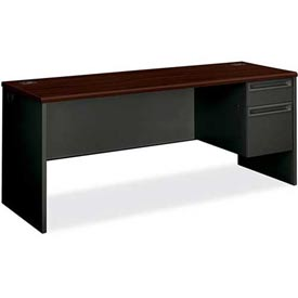 """HON Credenza for 38000 Series Single Right Pedestal 72""""W x 24""""D x 29-1/2""""H Mahogany by"""