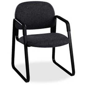 HON® - Guest Chair with Sled Base - Fabric - Confetti Black - Solution Series