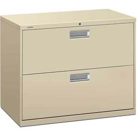 "HON® - Brigade®  600 Series 2 Drawer Lateral File 36""W Putty"