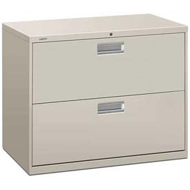 "HON® - Brigade®  600 Series 2 Drawer Lateral File 36""W Light Gray"