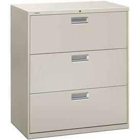 "HON® - Brigade®  600 Series 3 Drawer Lateral File 36""W Light Gray"