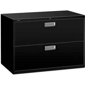 "HON® - Brigade®  600 Series 2 Drawer Lateral File 42""W Black"