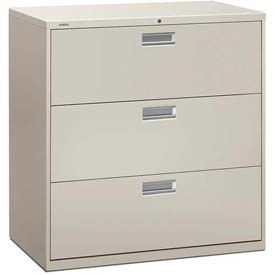 "HON® - Brigade®  600 Series 3 Drawer Lateral File 42""W Light Gray"