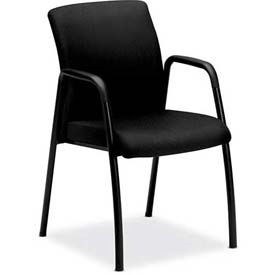 HON® - Guest Chair with Arms - Fabric - Black - Ignition Series