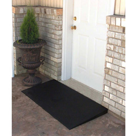 "EZ-ACCESS® Transitions® Rubber Mat Threshold Ramp TMEM 2.5-1 - 24""L x 48""W - 850 Lb. Cap."