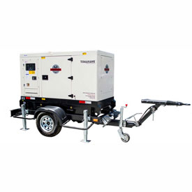 Tomahawk TDG40-TE-EPA, 40 KW, 3 Phase, Tier 4, Towable Back Up Emergency Diesel Generator by