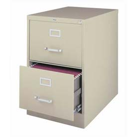 "Hirsh Industries® 25"" Deep Vertical File Cabinet 2-Drawer Legal Size - Putty"