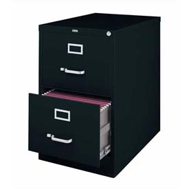 "Hirsh Industries® 25"" Deep Vertical File Cabinet 2-Drawer Legal Size - Black"