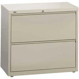 "Hirsh Industries® HL10000 Series® Lateral File 36"" Wide 2-Drawer - Putty"