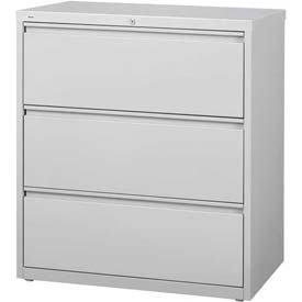 "Hirsh Industries® HL10000 Series® Lateral File 36"" Wide 3-Drawer - Light Gray"
