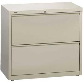 "Hirsh Industries® HL10000 Series® Lateral File 42"" Wide 2-Drawer - Putty"
