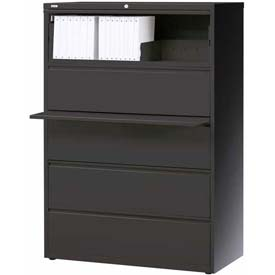 "Hirsh Industries® HL10000 Series® Lateral File 36"" Wide 5-Drawer - Charcoal"