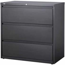 "Hirsh Industries® HL10000 Series® Lateral File 42"" Wide 3-Drawer - Charcoal"