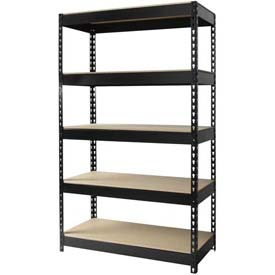 "Hirsh Industries® 36""W x 16""D x 60""H, Riveted Steel Boltless Shelving Unit, 5-Shelf"