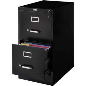 "Hirsh Industries® 22"" Deep Vertical File Cabinet 2-Drawer Letter Size Black"