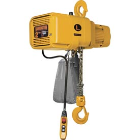 NER Dual Speed Electric Chain Hoist - 3 Ton, 15' Lift, 17/3 ft/min, 460V