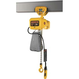 NER Electric Chain Hoist w/ Push Trolley - 3 Ton, 10' Lift, 17 ft/min, 460V