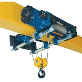 RH-Advantage Wire Rope Hoist, Dual Speed Hoist and Trolley, 5 Ton, 23' Lift, 460V by