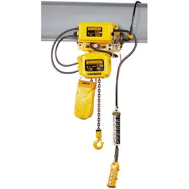SNER Electric Chain Hoist w/ Motor Trolley - 3 Ton, 10' Lift, 3.5 ft/min, 115V