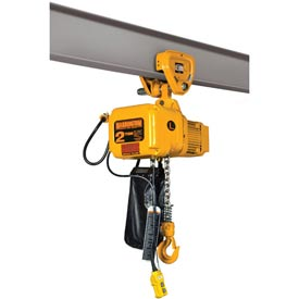 SNER Electric Chain Hoist w/ Push Trolley - 3 Ton, 20' Lift, 3.5 ft/min, 115V