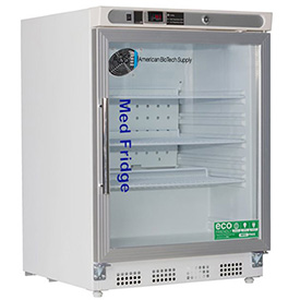 ABS Premier Pharmacy/Vaccine Undercounter Refrigerator, Built-In, Glass Door, 4.6 Cu.Ft. by