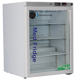 ABS Premier Pharmacy/Vaccine Undercounter Refrigerator, Freestanding, Glass Door, 5.2 Cu.... by